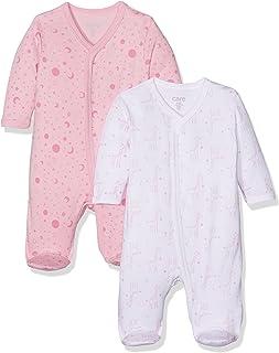 Care Baby-Mädchen Schlafstrampler, 2er Pack