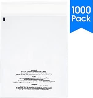 Best self seal suffocation warning clear poly bags Reviews
