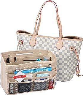 Vercord Felt Tote Handbag Purse Pocketbook Organizer Insert Divider Shaper Bag in Bag