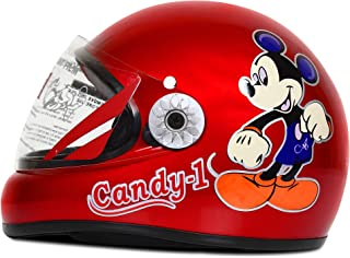 ACTIVE CANDY-1 Full Face Helmet for Kids from 2 to 5 Years (RED,Size-Extra Small)(CARTOON CHARACTERs MAY VERY) (RED)