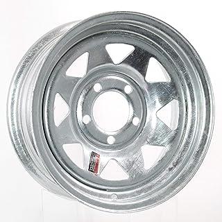 -12.7mm Offset 5x4.5 Bolt Pattern 4 Inch Backspace 15x8 Satin Black TACTIK/Circle 8 Classic 15 Inch Wheel/for Jeep Wrangler 1987-2006