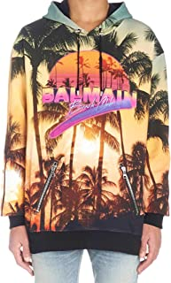 Balmain Luxury Fashion Mens RH13248I025AAA Yellow Sweatshirt | Fall Winter 19