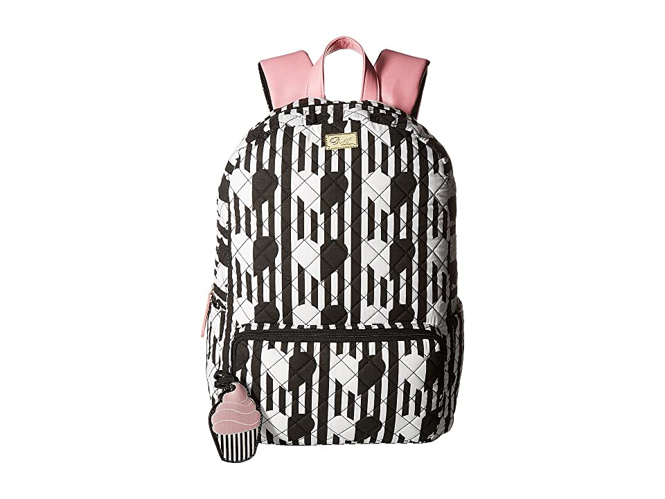 Luv Betsey Danny Cotton Backpack (White) Backpack Bags