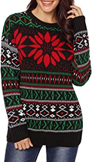 AlvaQ Women Ugly Christmas Sweater Pullover Knit Tops