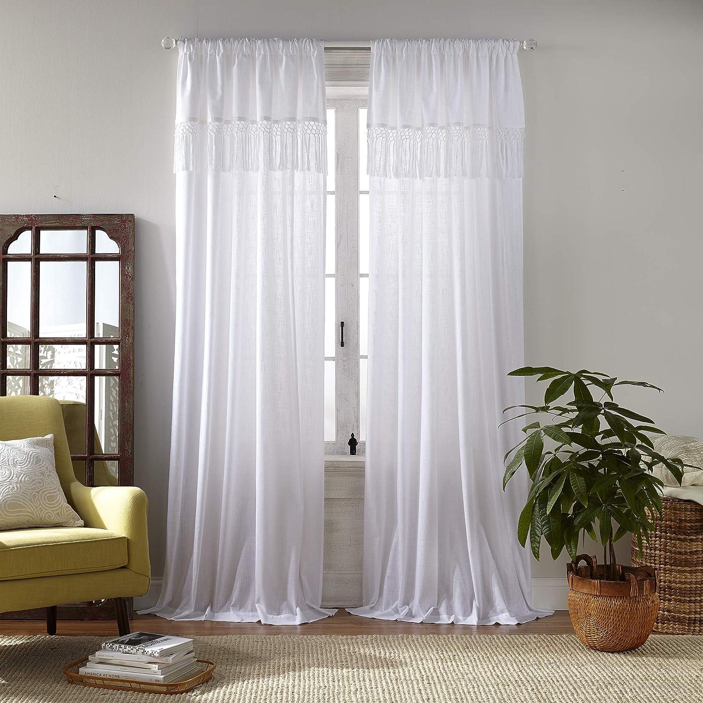 Elrene Home Fashions Calypso Cottagecore New Manufacturer OFFicial shop Orleans Mall Tassel Semi She Macramé