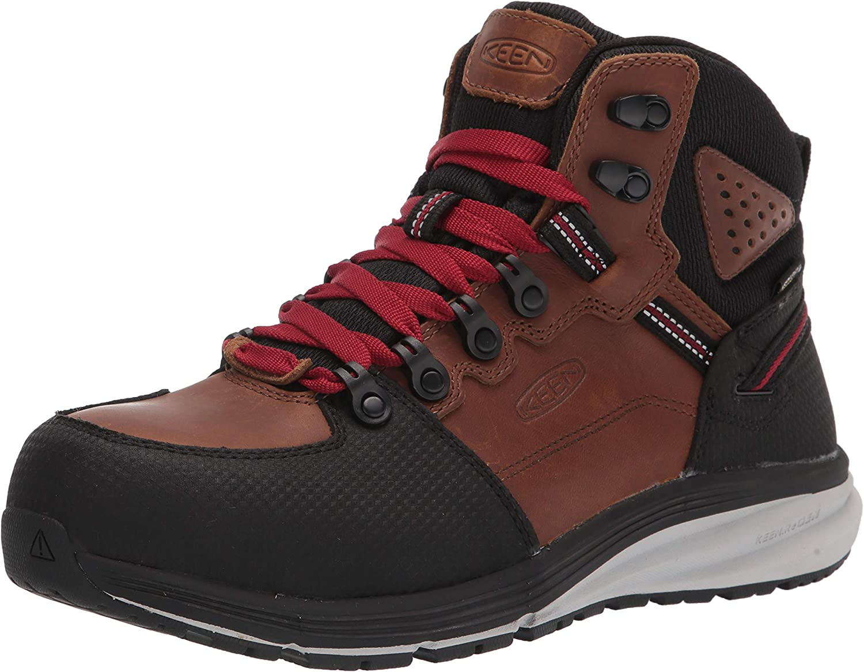 KEEN Utility Men's Red Hook Mid Height Composite Toe Waterproof Warehouse Work Sneakers
