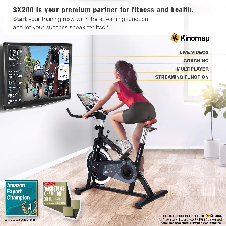 SporTSTech Sx200 - Bicicleta de Ciclo Indoor Profesional con Control Mediante Smartphone: Amazon.es: Deportes y aire libre