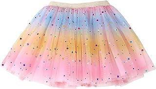 Simplicity Baby Girl's Rainbow Tutu Skirt 4-Layer Tulle Princess Ballet Dress