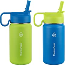 ThermosFlask Unisex-Adult ThermoFlask Kids Double Wall Vacuum Insulated Stainless Steel (Green/Blue), Green/Blue