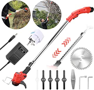 Gecheer 12V Electric Lawn Mower Cordless Household Grass Trimmer Cutter Portable Pruning Garden Tool