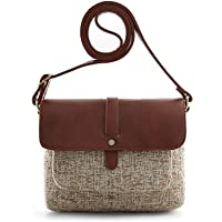 ECOSUSI Womens Flap-over Vintage Shoulder Crossbody Bag