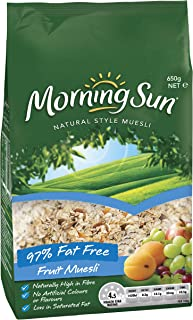 Morning Sun Muesli Breakfast Cereal Natural Style, 97% Fat Free, 650g