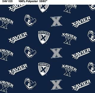 Xavier University Fleece Blanket Fabric-Xavier Fleece Fabric Sold by The Yard