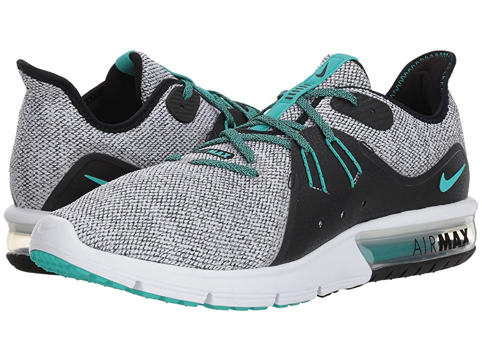 Nike Air Max Sequent 3 (White/Hyper Jade/Black) Men