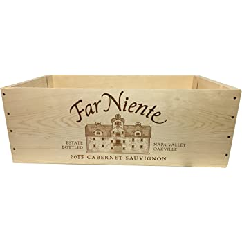 Amazon Com Caymus Wine Crate 6 Bottle Decorative Wooden Wine Box For Wine Country Home Decor Wedding Decor Storage Organization Diy Projects Gift Box Garden Planter Box Home Kitchen