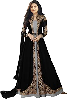 4c21b43cd5 Bipolar Life Women's Faux Georgette Embroidery anarkali Semi Stitched Salwar  Suit