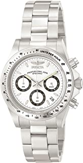 Men's 9211 Speedway Collection Stainless Steel Chronograph Watch with Link Bracelet