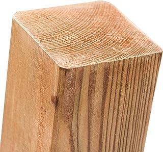 comprar comparacion Postes de madera de pino impregnada en 18tamaños con cabezal plano · Postes cuadrados marrones para va...