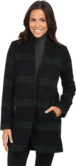 Plaid Menswear Wool Coat