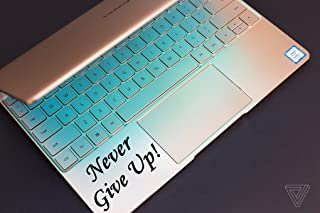 DKISEE Never Give Up Sticker Inspirational Decal Never Give Up Laptop Decal Never Give Up Mac Decal Never Give Up Car Decal Never Give Up Window 5 inch