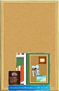 Board Dudes 11 x 17 Inches Wood Style Framed Cork Board (9160)