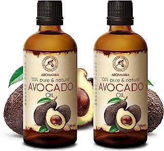 Aceite de Aguacate 2x100ml - Persea Americana - Sudáfrica - 100% Puro y Natural 200ml - Cuidado Intensivo para Piel - Cuer...