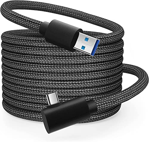 Oculus Link Câble USB 3.0 5m/16FT pour Oculus Quest 2/Quest Casque de Réalité Virtuelle, Braided Nylon Matériel, Adap...