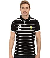 U.S. POLO ASSN. - Slim Fit Stripe and Solid Pique Polo