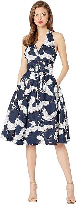 Crane Print Dress