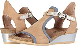 Nude Nubuck/Feathery Blue Nubuck/Gold Leather