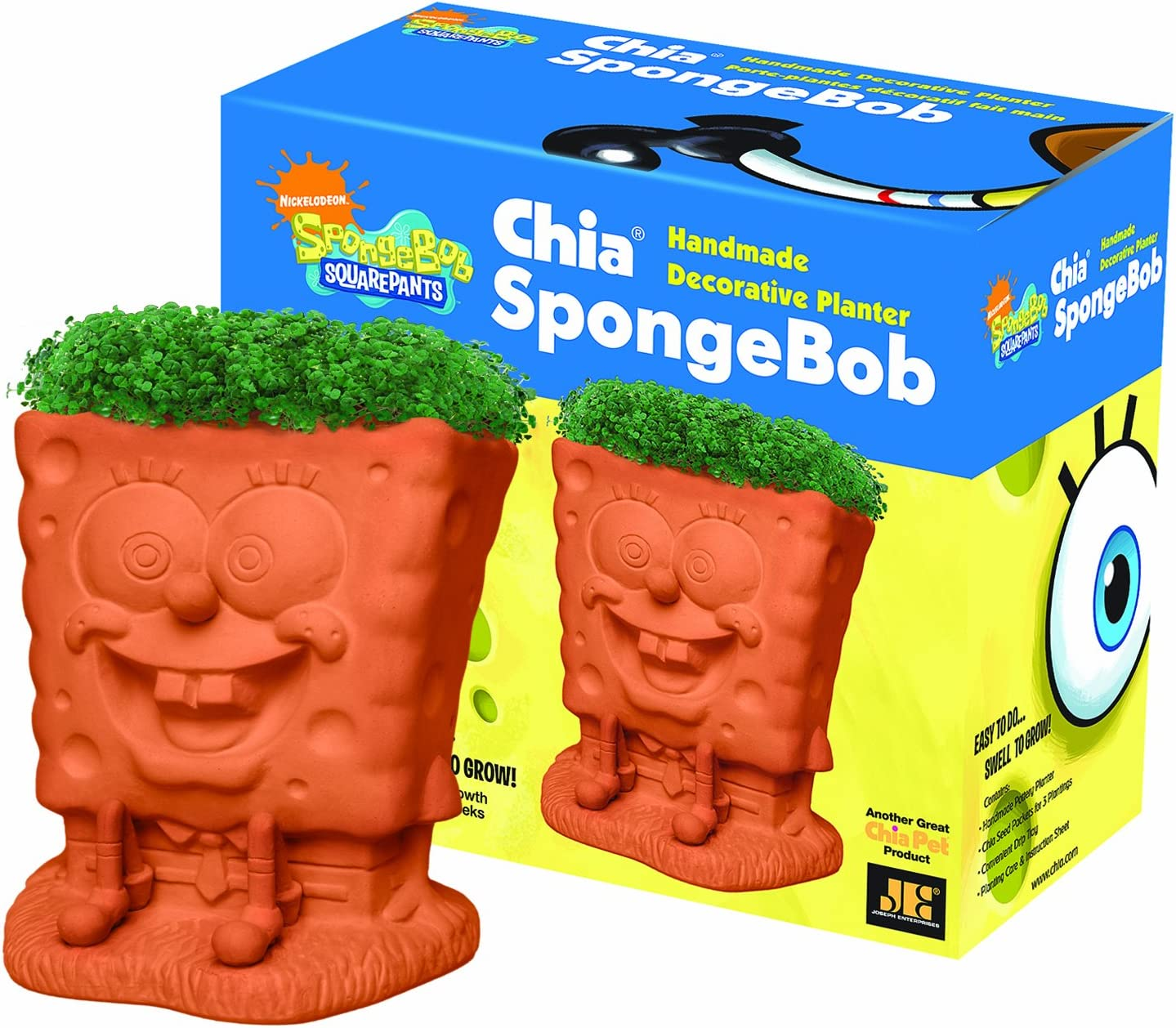 Chia Pet SpongeBob with Seed E Pack Planter 70% OFF Outlet Manufacturer regenerated product Decorative Pottery