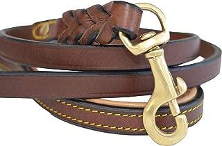 soft leather dog leash