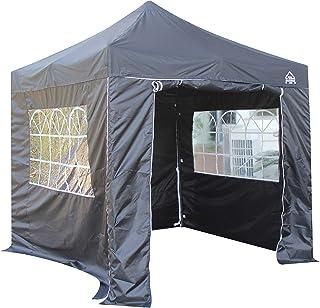 All Seasons Gazebos 2.5 x 2.5m Heavy Duty, Fully Waterproof Pop up Gazebo With 4 Side Walls (Black)