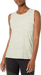 Amazon Brand - Core 10 Women's (XS-3X) Soft Pima Cotton Stretch Full Coverage Yoga Sleeveless Tank