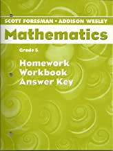 Mathematics, Grade 5, Homework Workbook Answer Key