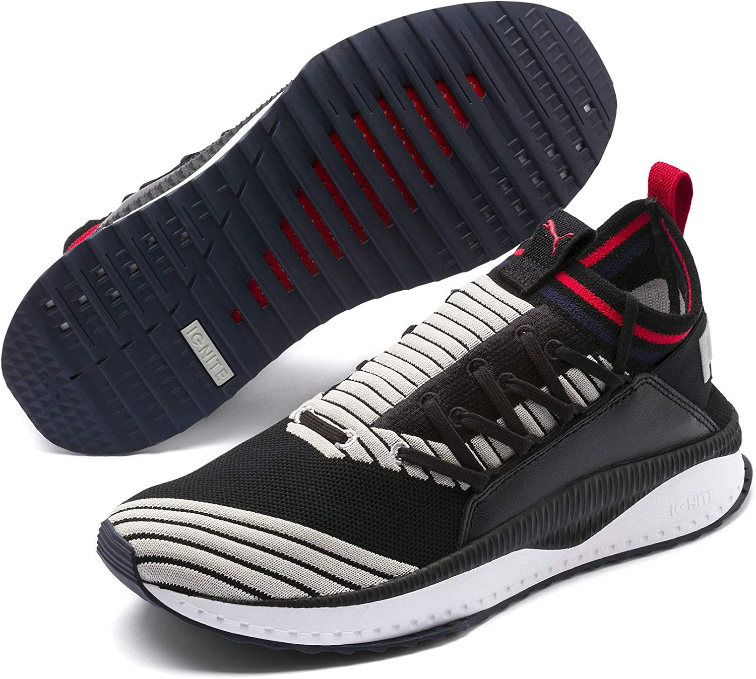 Puma Tsugi Black Grey Ribbon Red 367519 04