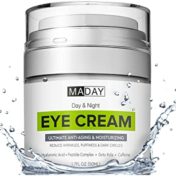 Eye Cream - Reduce Dark Circles, Puffiness and Under Eye Bags - Effective Anti-Wrinkles Treatment - Anti-Aging Eye Gel with Hyaluronic Acid, Gotu Kola Extract, Caffeine - Refreshing Eye serum