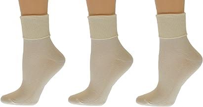 Sierra Socks Women's Organic Cotton Extra Smooth Toe Seaming 3 pair Pack