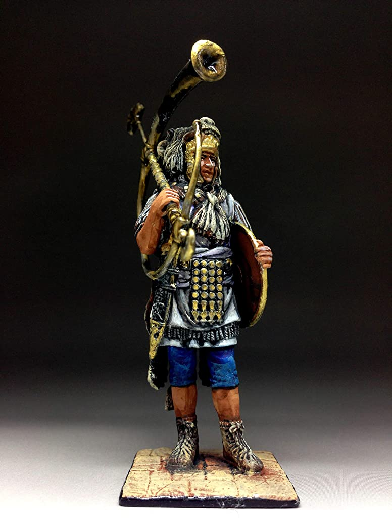 Military-historical miniatures Rome Cornicen Praetorian Guard. 1st Century AD Tin Metal KIT 54mm Action Figures Toy Soldiers Size 1/32 Scale for Home Décor Accents Collectible Figurines Item #C5121K