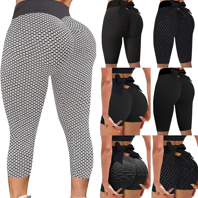 Fishnet Leggings Yoga Pants Sets for Women Yoga Pants Queen Size Butt Lift Leggings Under 5 Dollars Leggings with Pockets for Women Pack (Pink 9,XXL)
