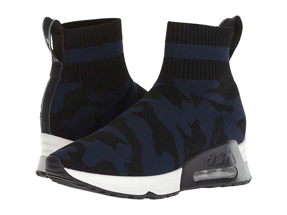 ASH Lulu Camo (Knit Black/Navy) Women