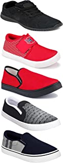 WORLD WEAR FOOTWEAR Sports Running Shoes/Casual/Sneakers/Loafers Shoes for MenMulticolors (Combo-(5)-1219-1221-1140-720-771)