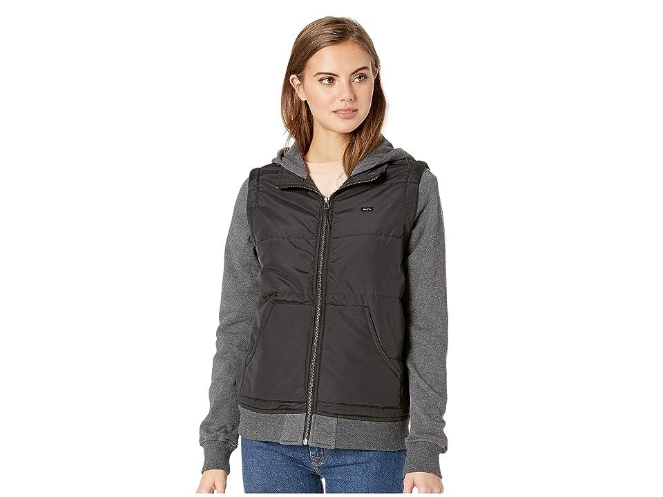 RVCA Eternal Quilted Fleece Jacket (Black) Women