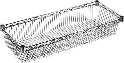 Archimede Modular Systeemplank, verchroomd metaal, 36 x 36 x 15 cm