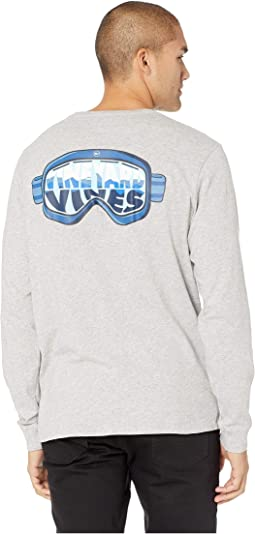 Long Sleeve Ski Goggles Pocket Tee