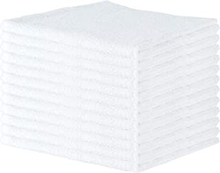 Arkwright Qwick WickTerry Bar Mop Towel Pack of 12, Solid White Kitchen Towels, Restaurant Cleaning Towels, Rags for Home, Kitchen, Bars (16 x 19 Inch)