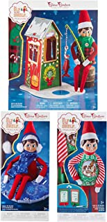 The Elf on the Shelf Claus Couture Outdoor Adventure Set: Frosted Fishing Hut, Tacky Sweater and Tidings and Tubular Snow Set