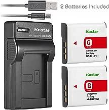 Kastar Battery X2 + Slim USB Charger for Sony NP-BG1 NP-FG1 Battery Sony Cybershot DSC-HX5V, DSC-HX9V, DSC-W30, DSC-W35, DSC-W50, DSC-W55, DSC-W70, DSC-W80, DSC-W290, DSC-H10, H20, H50, H55, H70, H90