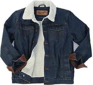 Wrangler Authentics Boys' Big Western Lined Denim Jacket