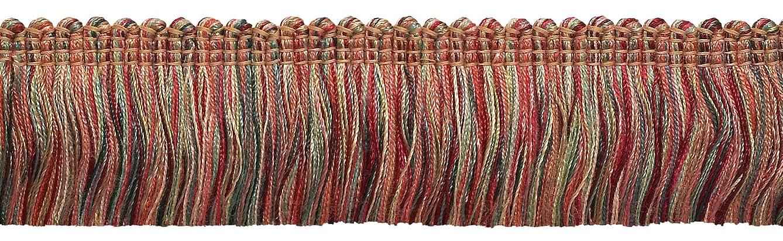 DecoPro 5 Yard Value Pack - RED, LIGHT ROSE Baroque Collection Brush Fringe 1 3/4